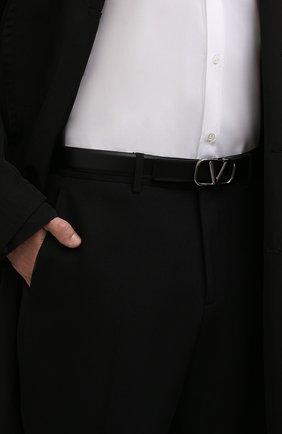 Мужской кожаный ремень VALENTINO черного цвета, арт. WY0T0Q90/AZR | Фото 2 (Случай: Повседневный)