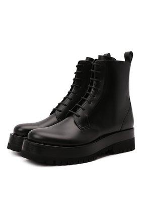 Мужские кожаные ботинки upraise VALENTINO черного цвета, арт. WY0S0E81/LZP | Фото 1 (Подошва: Массивная; Материал внутренний: Натуральная кожа; Каблук высота: Высокий; Мужское Кросс-КТ: Ботинки-обувь, Байкеры-обувь)