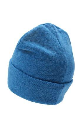 Мужская шапка COMME DES FUCKDOWN бирюзового цвета, арт. CDFA571   Фото 2 (Материал: Текстиль, Синтетический материал, Шерсть; Кросс-КТ: Трикотаж)