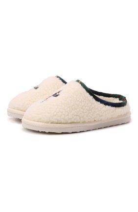 Детского домашние туфли POLO RALPH LAUREN кремвого цвета, арт. 13-RF103119/CHILDREN | Фото 1 (Материал внешний: Текстиль; Материал внутренний: Текстиль)