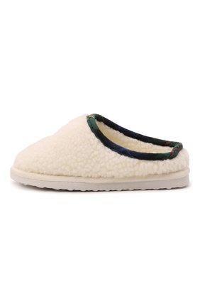 Детского домашние туфли POLO RALPH LAUREN кремвого цвета, арт. 13-RF103119/CHILDREN | Фото 2 (Материал внешний: Текстиль; Материал внутренний: Текстиль)