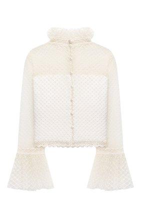 Детское блузка DESIGNERS CAT кремвого цвета, арт. 100000K01000949/4A-8A | Фото 2 (Материал подклада: Хлопок; Рукава: Длинные; Материал внешний: Синтетический материал, Хлопок)