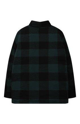Детского хлопковая куртка DAL LAGO зеленого цвета, арт. W003Q/9111/7-12 | Фото 2 (Материал внешний: Хлопок; Материал подклада: Синтетический материал; Рукава: Длинные; Кросс-КТ: Сезон: демисезон)