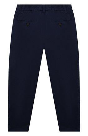 Детские хлопковые брюки DAL LAGO темно-синего цвета, арт. W107/9101/7-12 | Фото 2 (Материал внешний: Хлопок; Мальчики Кросс-КТ: Брюки-одежда)