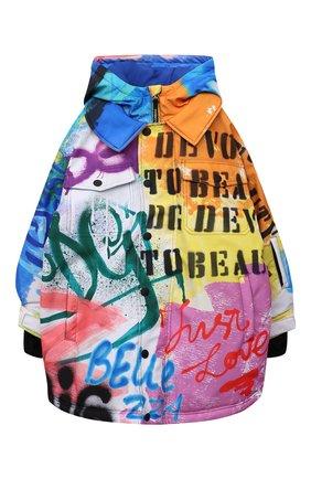 Детского парка DOLCE & GABBANA разноцветного цвета, арт. L4JC13/G7A6V/8-14   Фото 1 (Рукава: Длинные; Материал подклада: Синтетический материал; Материал внешний: Синтетический материал; Мальчики Кросс-КТ: парка-верхняя одежда)