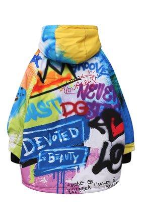 Детского парка DOLCE & GABBANA разноцветного цвета, арт. L4JC13/G7A6V/8-14   Фото 2 (Рукава: Длинные; Материал подклада: Синтетический материал; Материал внешний: Синтетический материал; Мальчики Кросс-КТ: парка-верхняя одежда)
