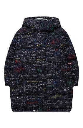 Детское пуховое пальто DOLCE & GABBANA темно-синего цвета, арт. L4JB2R/HSM0T/8-14   Фото 1 (Материал подклада: Синтетический материал; Рукава: Длинные; Материал утеплителя: Пух и перо; Материал внешний: Синтетический материал; Мальчики Кросс-КТ: Пуховик-верхняя одежда; Кросс-КТ: Сезон: зима)