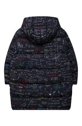 Детское пуховое пальто DOLCE & GABBANA темно-синего цвета, арт. L4JB2R/HSM0T/8-14   Фото 2 (Материал подклада: Синтетический материал; Рукава: Длинные; Материал утеплителя: Пух и перо; Материал внешний: Синтетический материал; Мальчики Кросс-КТ: Пуховик-верхняя одежда; Кросс-КТ: Сезон: зима)
