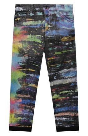 Детские джинсы DOLCE & GABBANA разноцветного цвета, арт. L42F43/LD993/8-14   Фото 1 (Материал внешний: Хлопок)