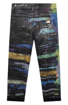 Детские джинсы DOLCE & GABBANA разноцветного цвета, арт. L42F43/LD993/8-14   Фото 2 (Материал внешний: Хлопок)