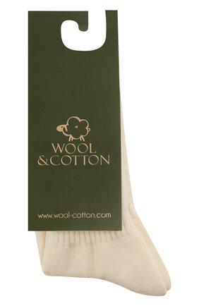 Детские шерстяные носки WOOL&COTTON кремвого цвета, арт. NAML | Фото 1 (Материал: Шерсть)