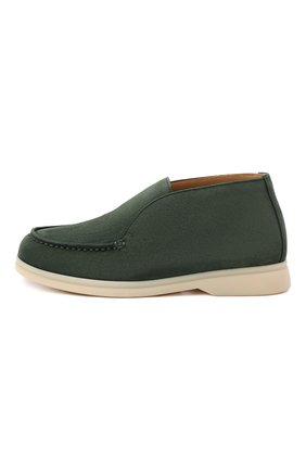 Детские замшевые ботинки LORO PIANA зеленого цвета, арт. FAD6916 | Фото 2 (Материал внутренний: Натуральная кожа)