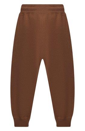 Детские кашемировые джоггеры BURBERRY коричневого цвета, арт. 8045146 | Фото 2 (Материал внешний: Кашемир, Шерсть; Девочки Кросс-КТ: Брюки-одежда)