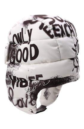 Детского утепленная шапка DOLCE & GABBANA черно-белого цвета, арт. LB5H00/G7BCR   Фото 2 (Материал: Текстиль, Синтетический материал)