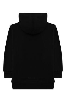 Детский хлопковое худи BALENCIAGA черного цвета, арт. 682141/TLV66 | Фото 2 (Рукава: Длинные; Материал внешний: Хлопок; Мальчики Кросс-КТ: Толстовка-одежда)