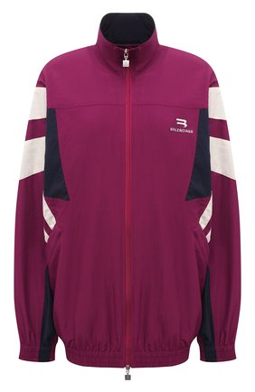 Женская куртка BALENCIAGA фуксия цвета, арт. 675473/TK048 | Фото 1 (Рукава: Длинные; Длина (верхняя одежда): Короткие; Материал подклада: Хлопок, Вискоза; Материал внешний: Синтетический материал; Стили: Спорт-шик; Кросс-КТ: Куртка)