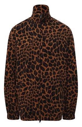 Женская куртка BALENCIAGA леопардового цвета, арт. 678409/TLLG8 | Фото 1 (Материал подклада: Синтетический материал; Материал внешний: Синтетический материал; Длина (верхняя одежда): До середины бедра; Рукава: Длинные; Стили: Спорт-шик; Кросс-КТ: Куртка)