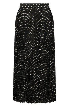 Женская плиссированная юбка BALENCIAGA черного цвета, арт. 659067/TLLH7 | Фото 1 (Материал внешний: Синтетический материал; Длина Ж (юбки, платья, шорты): Миди; Стили: Гламурный; Женское Кросс-КТ: юбка-плиссе, Юбка-одежда)