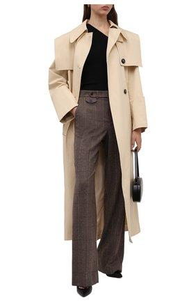 Женские шерстяные брюки RALPH LAUREN коричневого цвета, арт. 290858182 | Фото 2 (Длина (брюки, джинсы): Удлиненные; Материал внешний: Шерсть; Стили: Спорт-шик; Женское Кросс-КТ: Брюки-одежда; Силуэт Ж (брюки и джинсы): Широкие)