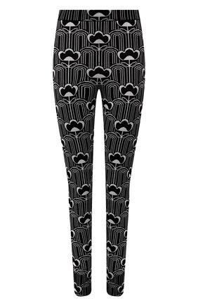 Женские леггинсы из вискозы PRADA черно-белого цвета, арт. 22229-1ZX3-F0967-212 | Фото 1 (Материал внешний: Вискоза; Стили: Спорт-шик; Кросс-КТ: Трикотаж; Длина (брюки, джинсы): Стандартные; Женское Кросс-КТ: Леггинсы-одежда)