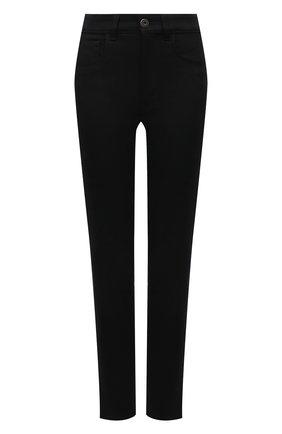 Женские джинсы PRADA черного цвета, арт. GFP456-1W42-F0557-202 | Фото 1 (Материал внешний: Хлопок; Стили: Кэжуэл; Кросс-КТ: Деним; Силуэт Ж (брюки и джинсы): Слим; Длина (брюки, джинсы): Стандартные)