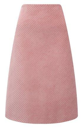 Женская юбка PRADA розового цвета, арт. P151T-1Y8A-F0924-212 | Фото 1 (Материал внешний: Хлопок; Стили: Гламурный; Длина Ж (юбки, платья, шорты): До колена; Женское Кросс-КТ: Юбка-одежда)