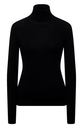 Женская водолазка из кашемира и шелка PRADA черного цвета, арт. P26183-40J-F0002-142 | Фото 1 (Материал внешний: Шелк, Шерсть, Кашемир; Стили: Кэжуэл; Женское Кросс-КТ: Водолазка-одежда; Рукава: Длинные; Длина (для топов): Стандартные)