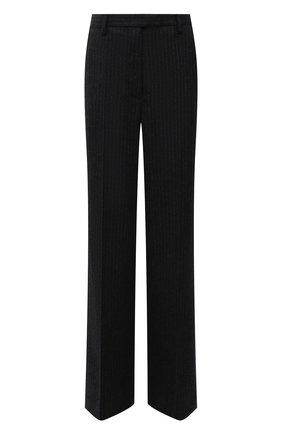 Женские шерстяные брюки PRADA темно-серого цвета, арт. P290EG-1ZJ8-F0480-212 | Фото 1 (Материал внешний: Шерсть; Стили: Кэжуэл; Длина (брюки, джинсы): Удлиненные; Силуэт Ж (брюки и джинсы): Расклешенные; Женское Кросс-КТ: Брюки-одежда)