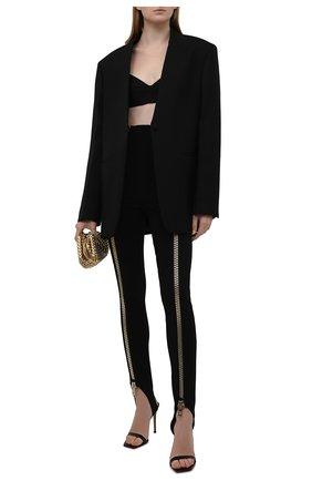 Женские леггинсы со штрипками DOLCE & GABBANA черного цвета, арт. FTCBST/FUGL3 | Фото 2 (Длина (брюки, джинсы): Удлиненные; Материал внешний: Вискоза; Стили: Гламурный)