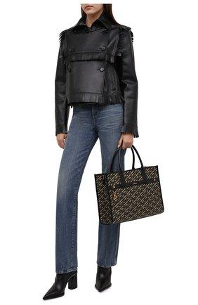Женская кожаная куртка BURBERRY черного цвета, арт. 8046701 | Фото 2 (Длина (верхняя одежда): Короткие; Рукава: Длинные; Материал подклада: Купро; Стили: Гламурный; Женское Кросс-КТ: Замша и кожа; Кросс-КТ: Куртка)