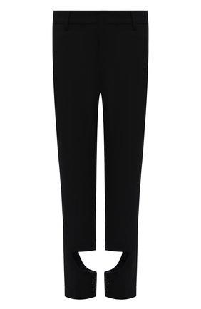 Женские шерстяные брюки BURBERRY черного цвета, арт. 8046751 | Фото 1 (Материал подклада: Купро; Материал внешний: Шерсть; Длина (брюки, джинсы): Стандартные; Стили: Гламурный; Женское Кросс-КТ: Брюки-одежда; Силуэт Ж (брюки и джинсы): Прямые)