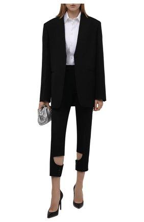 Женские шерстяные брюки BURBERRY черного цвета, арт. 8046751 | Фото 2 (Материал подклада: Купро; Материал внешний: Шерсть; Длина (брюки, джинсы): Стандартные; Стили: Гламурный; Женское Кросс-КТ: Брюки-одежда; Силуэт Ж (брюки и джинсы): Прямые)