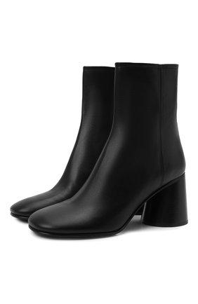 Женские кожаные ботильоны ACNE STUDIOS черного цвета, арт. AD0428 | Фото 1 (Каблук высота: Высокий; Подошва: Плоская; Материал внутренний: Натуральная кожа; Каблук тип: Устойчивый)