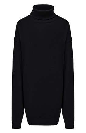 Женский шерстяной свитер DRIES VAN NOTEN темно-серого цвета, арт. 212-011276-3702 | Фото 1 (Рукава: Длинные; Материал внешний: Шерсть; Длина (для топов): Удлиненные; Стили: Кэжуэл; Женское Кросс-КТ: Свитер-одежда)