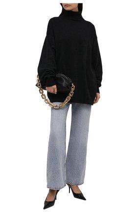 Женский шерстяной свитер DRIES VAN NOTEN темно-серого цвета, арт. 212-011276-3702 | Фото 2 (Рукава: Длинные; Материал внешний: Шерсть; Длина (для топов): Удлиненные; Стили: Кэжуэл; Женское Кросс-КТ: Свитер-одежда)