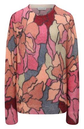 Женский шерстяной пуловер DRIES VAN NOTEN розового цвета, арт. 212-011238-3720 | Фото 1 (Материал внешний: Шерсть, Синтетический материал; Стили: Кэжуэл; Женское Кросс-КТ: Пуловер-одежда; Длина (для топов): Стандартные; Рукава: Длинные)