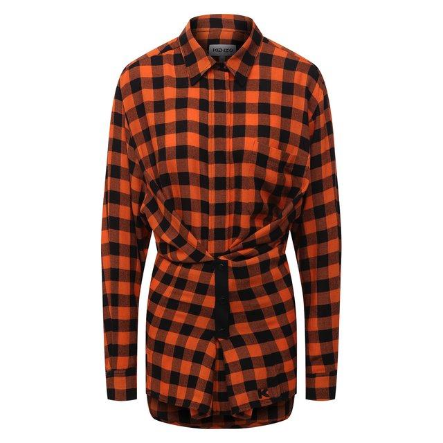 Рубашка из вискозы и шерсти Kenzo