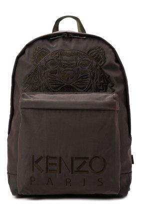 Женский рюкзак kampus KENZO хаки цвета, арт. FA65SF300F20 | Фото 1 (Материал: Текстиль; Размер: large; Стили: Спорт)