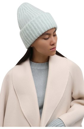 Женская шапка TAK.ORI светло-зеленого цвета, арт. AC043MW018PF17 | Фото 2 (Материал: Текстиль, Шерсть, Синтетический материал)