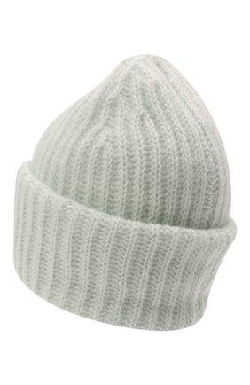 Женская шапка TAK.ORI светло-зеленого цвета, арт. AC043MW018PF17 | Фото 3 (Материал: Текстиль, Шерсть, Синтетический материал)