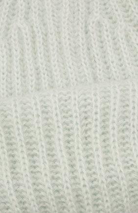 Женская шапка TAK.ORI светло-зеленого цвета, арт. AC043MW018PF17 | Фото 4 (Материал: Текстиль, Шерсть, Синтетический материал)