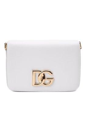 Женская сумка dg millennials DOLCE & GABBANA белого цвета, арт. BB7077/AW576 | Фото 1 (Материал: Натуральная кожа; Размер: small; Сумки-технические: Сумки через плечо; Ремень/цепочка: На ремешке)