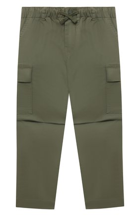 Детские хлопковые брюки POLO RALPH LAUREN хаки цвета, арт. 321846928 | Фото 1 (Материал внешний: Хлопок)