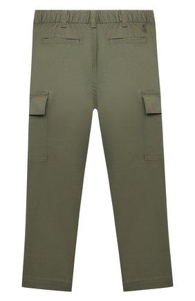 Детские хлопковые брюки POLO RALPH LAUREN хаки цвета, арт. 321846928 | Фото 2 (Материал внешний: Хлопок)