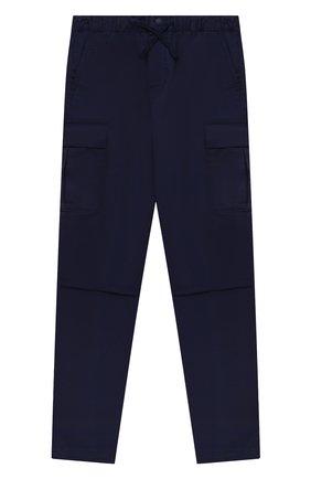 Детские хлопковые брюки POLO RALPH LAUREN синего цвета, арт. 323846928 | Фото 1 (Материал внешний: Хлопок)