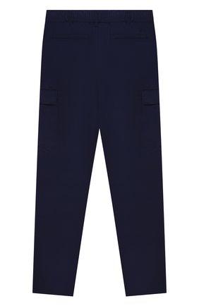 Детские хлопковые брюки POLO RALPH LAUREN синего цвета, арт. 323846928 | Фото 2 (Материал внешний: Хлопок)