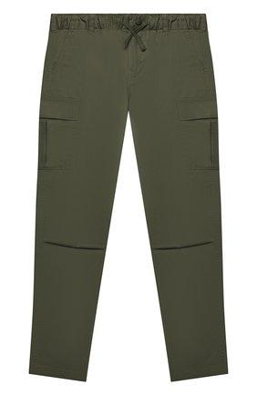 Детские хлопковые брюки POLO RALPH LAUREN хаки цвета, арт. 323846928 | Фото 1 (Материал внешний: Хлопок)
