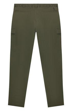 Детские хлопковые брюки POLO RALPH LAUREN хаки цвета, арт. 323846928 | Фото 2 (Материал внешний: Хлопок)