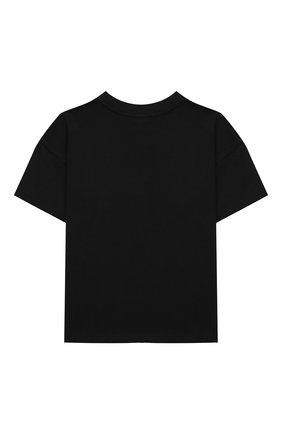 Детская хлопковая футболка DOLCE & GABBANA черного цвета, арт. L4JTDE/G7BMF/8-14   Фото 2 (Материал внешний: Хлопок; Рукава: Короткие)