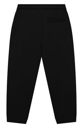Детские хлопковые джоггеры DOLCE & GABBANA черного цвета, арт. L4JPDY/G7BMB/8-14   Фото 2 (Материал внешний: Хлопок)